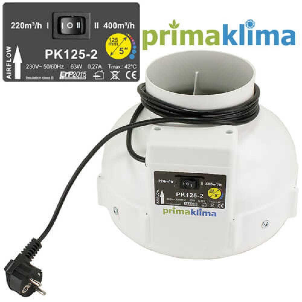 Prima Klima MES II d125 I-speed 220m м3/ч II-speed 360 м3/ч
