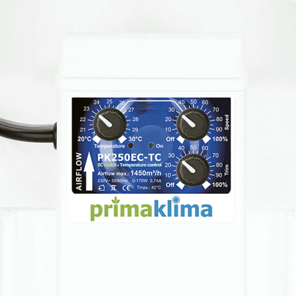 Вентилятор PK-250-EC-TC регулятор скорости и температуры