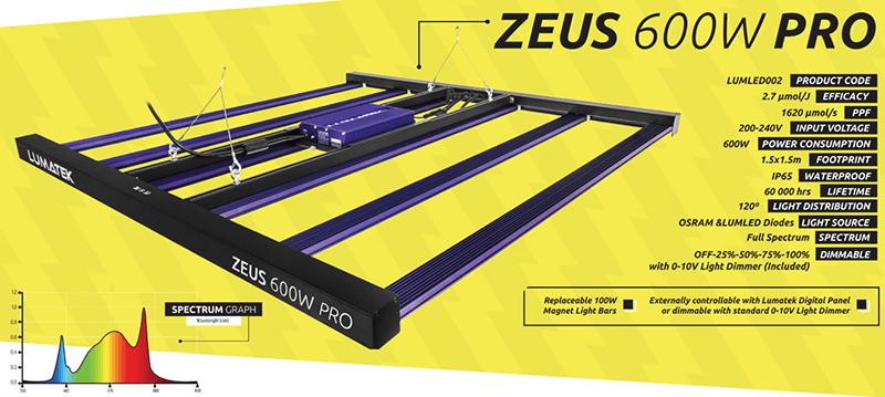 Lumatek Zeus LED 600W Pro