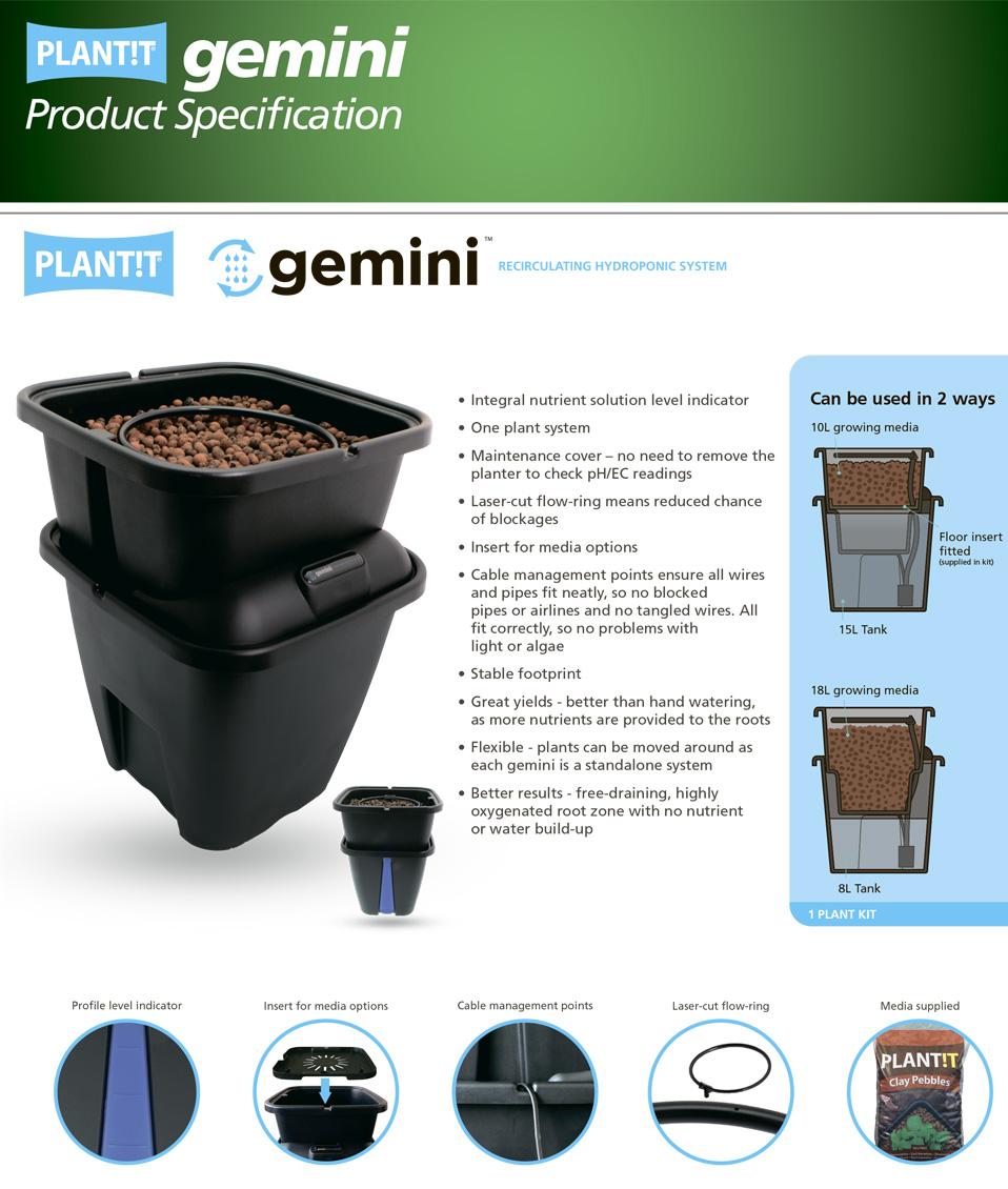 gemini system PLANT!T гидропоника