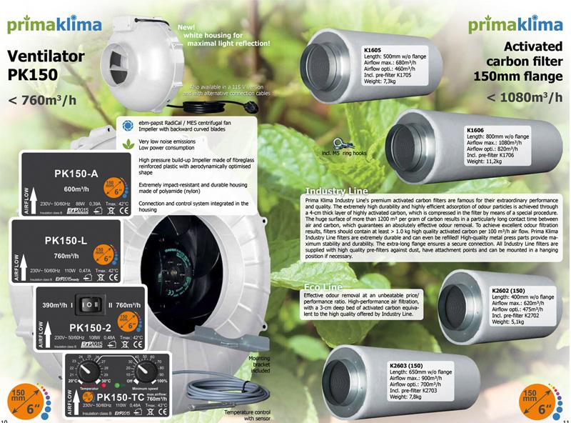 фильтры 150 мм Prima Klima